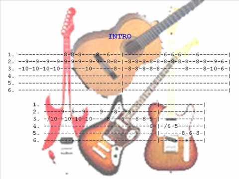 Mana - Mariposa Traicionera - con notas para guitarra