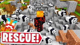 I RESCUED THE PANDA ARMY In LAZARBEAMS MINECRAFT SERVER..
