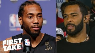 'Kawhi, stay here' - Omari Hardwick urges Leonard to re-sign with the Raptors | First Take