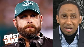 Stephen A. connects all of the Jets' problems to Adam Gase | First Take