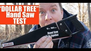 """Trying a $1 Hand Saw from the """"DOLLAR TREE"""" store (Junk Tools?)"""