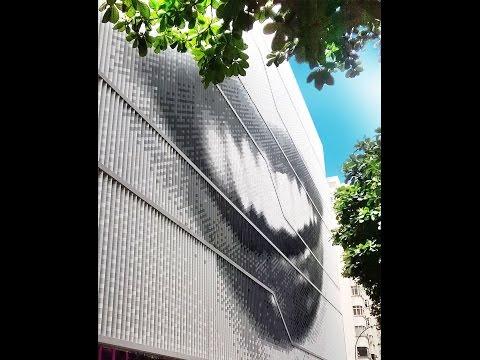 Fachada ULMA no Museo da imagen e do som de Río de Janeiro.