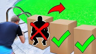 DONT Tackle the Wrong Mystery Box into the Pool of SLIME!!