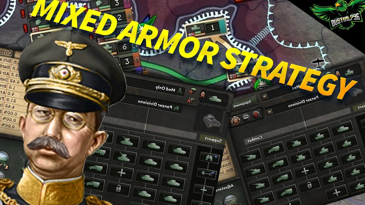 HOI4 The Mixed Armor Strategy (how to play hearts of iron 4)