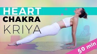 Kundalini Yoga Class: Heart Chakra Opening Sequence (50-min) Breath Of Fire Pranayama Frenzy!