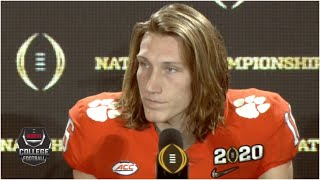 Trevor Lawrence disappointed after Clemson's CFP loss to LSU | College Football on ESPN