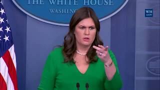 Sarah 'Huckabee' Sanders Press Briefing on Trump's Taxes & the Tax Bill Passing