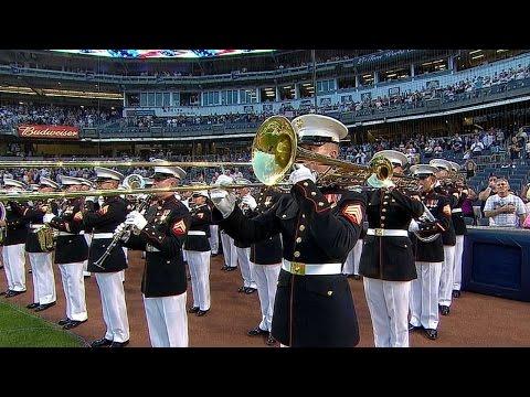 TB@NYY: National anthem at Yankee Stadium on Sept. 11
