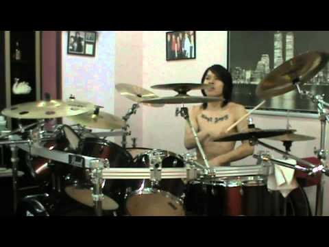 As I Lay Dying Nothing Left drum cover(KingZ AgneL)