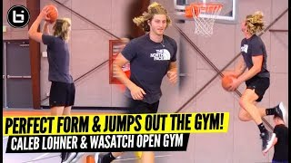 He's Got Perfect Shooting Form & Can Dunk On You! Caleb Lohner + Wasatch Open Run