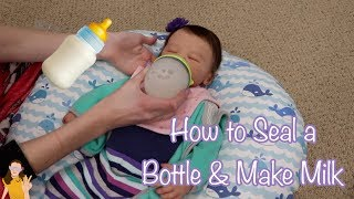 How to Seal Baby Bottles & Make Fake Milk for Reborn Babies! | Kelli Maple