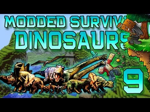 Minecraft: Modded Dinosaur Survival Let's Play W/Mitch! Ep. 9 - FEEDING THE DINOS! - Smashpipe Games