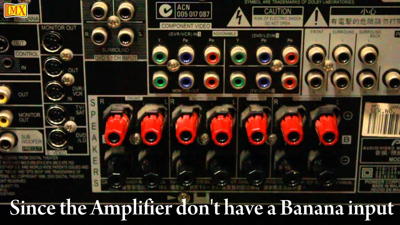 How To Connect Amplifier Amp Speakers Using Banana Plug