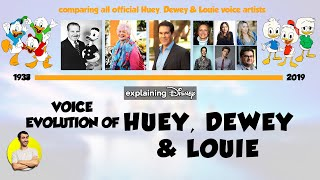 Voice Evolution of HUEY, DEWEY & LOUIE Over 81 Years (1938-2019) Explained