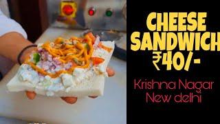 Cheese Grilled Sandwich at Just ₹40/- | Krishna Nagar Lal Quarter Market