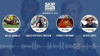 Myles Garrett, Eagles/Patriots, Carmelo Anthony, George Lopez | UNDISPUTED Audio Podcast