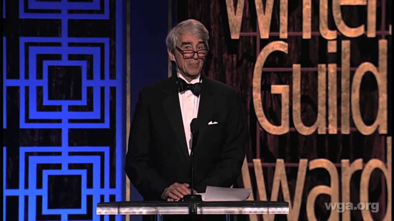 Sam Waterston presents Joshua Brand & John Falsey with the 2013 ...