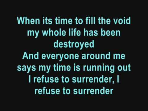 Papa Roach - Time is running out (lyrics)
