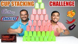 CUP STACKING CHALLENGE | Food Eating Challenge | Food Eating Competition | Food Challenge