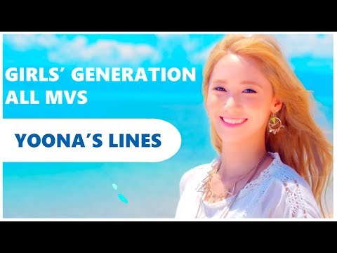 Every SNSD MV but it's just Yoona's lines