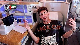 MY INSANE $15,000 AIRPLANE SEAT!! (I'M IN DUBAI)