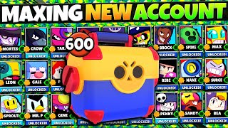 Unlocking & Fully Maxing EVERY Brawler Costs $??? | Insane 50,000+ Gem Mega Box Opening!