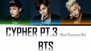 BTS (방탄소년단) (Rap Line) - Cypher pt.3: KILLER (feat. Supreme Boi)   Color Coded Lyrics    Han/Rom/Eng