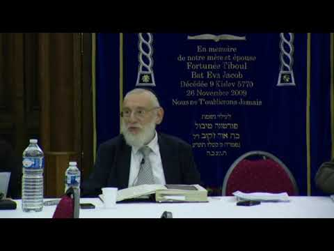 Cours du Grand Rabbin de Paris Michel Gugenheim du 14 octobre 2012