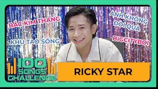 Ricky Star nhớ ngay HIT Karik nhưng suýt quên Binz tại thử thách 100 bài HIT | Yeah1 Show
