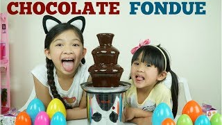 Chocolate Fondue Challenge with Cool PRIZES