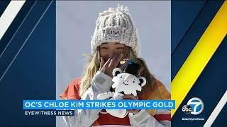Students at Chloe Kim's former La Palma school awed by Olympic gold medal | ABC7