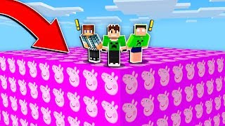 DESAFIO LUCKY BLOCK PEPPA PIG no MINECRAFT !!
