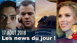Salaire SCARLETT JOHANSSON  / Série JASON BOURNE / STAR WARS / Fin MR ROBOT