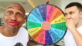 1 SPIN = 1 DARE! WITH MY PARENTS... Wheel Roulette Challenge