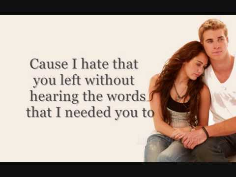 I Hope You Find It - Miley Cyrus - The Last Song FULL W/Lyrics
