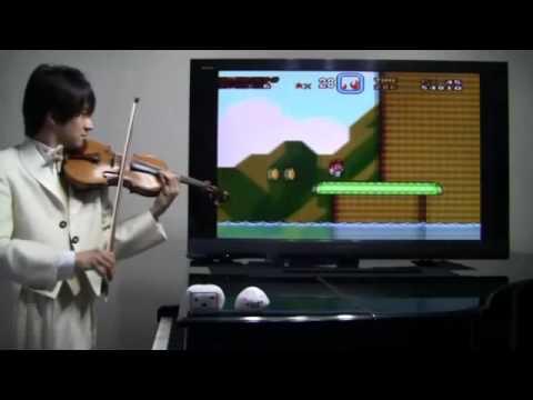 Interpretando Super Mario World en Violin