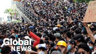 Protests continue against Hong Kong extradition bill ahead of G20 summit