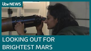Mars to be at its 'biggest and brightest' as it aligns with Earth | ITV News