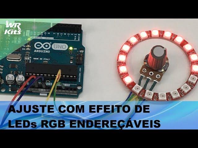 AJUSTE COM EFEITO DE LEDs ENDEREÇÁVEIS