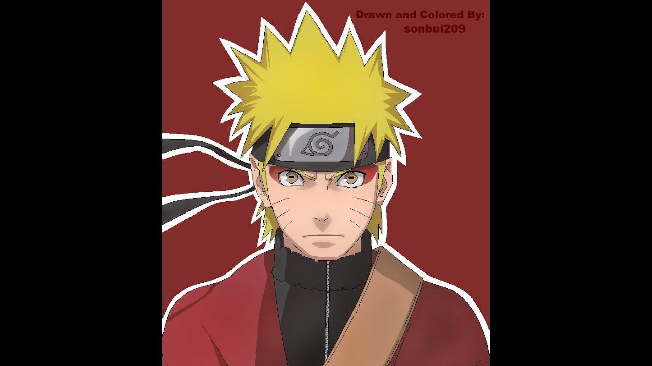 Naruto Shippuden - Naruto Uzumaki Sage Mode Speed Paint ...  Naruto Shippude...