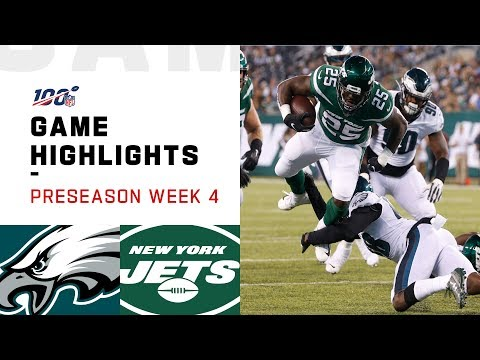 Eagles vs. Jets Preseason Week 4 Highlights | NFL 2019