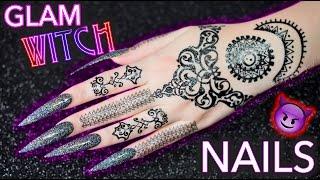 DIY Glam Witch Nails   Black Holographic Glitter mwahaha