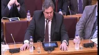 ΠΑΝΟΣ ΚΑΜΜΕΝΟΣ Παρέμβαση στη συζήτηση της Ενδ. Έκθ.Τράπεζας Ελλάδος Νομισματική Πολιτική 2013.