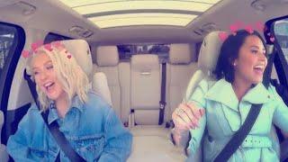 Christina Aguilera Praising Demi Lovato!