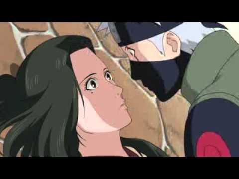 Shippuden moment - Kakashi and Hanare Kiss scene - Naruto ...