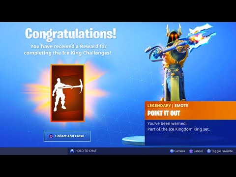 The New ICE KING EMOTE in Fortnite.. (Point It Out Tier 100 Emote)
