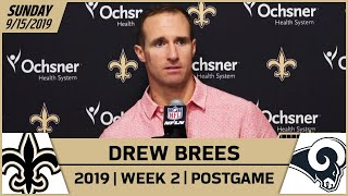 Drew Brees Postgame Reactions After Saints-Rams in Week 2 | 2019 NFL | New Orleans Saints