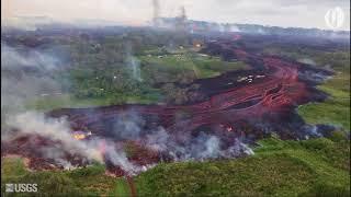 Hawaii volcano lava flow