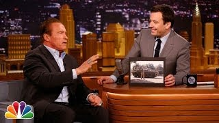 Arnold Schwarzenegger Crushes Things with Tanks