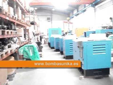 Video instalaciones de Bombas Unika (Grupos electrógenos)